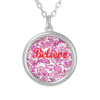 Believe Silver Plated Necklace