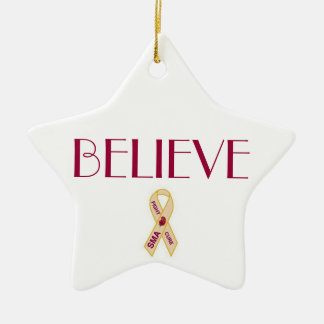 BELIEVE SMA AWARENESS RIBBON ORNAMENT