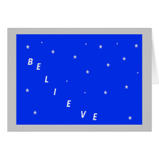 Believe Spiritual Christmas Card