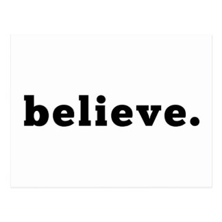 believe | Statement Postcard