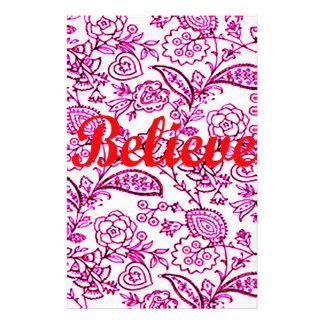 Believe Stationery