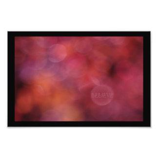 """BELIEVE"": Sunsets Affirmation Art Style #1 Photo Print"