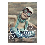 BELIEVE | The Magic of Christmas Photo Card Personalized Invites