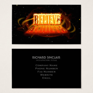 Believe to Achieve Business Card