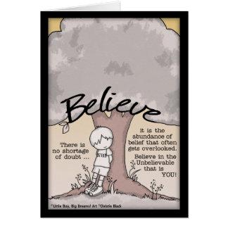 Believe Tree Card