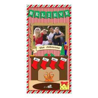 Believe • Twas Night Before Christmas • 4 Stocking Photo Card