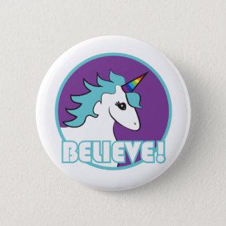 Believe! Unicorn 2 Inch Round Button