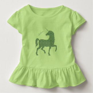 Believe Unicorn Fantasy Magical Horse Clipart Toddler T-shirt