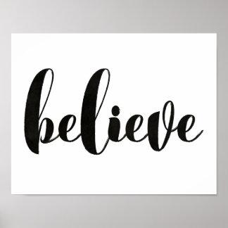 Believe wall print