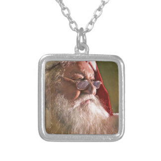 Believe, watercolor by Paul Jackson Silver Plated Necklace