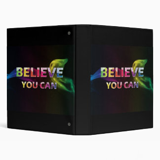 Believe You can ~ 3 word quote ~ Motivational Binders