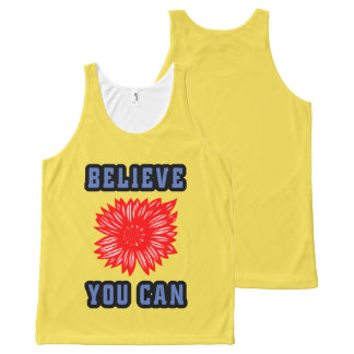 """""""Believe You Can"""" 631 Art Unisex Tanktop All-Over-Print Tank Top"""