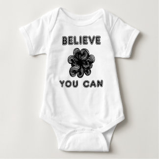 """""""Believe You Can"""" Baby Jersey Bodysuit"""