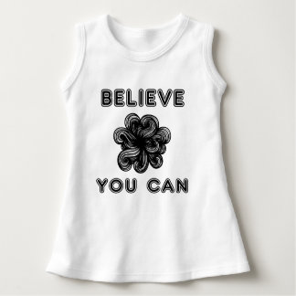 """Believe You Can"" Baby Sleeveless Dress"