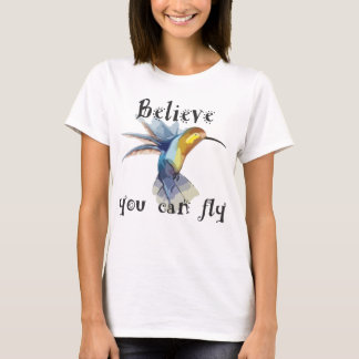 """Believe You Can Fly"" Wms Basic T T-Shirt"