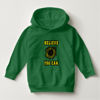 """""""Believe You Can"""" Toddler Pullover Hoodie"""