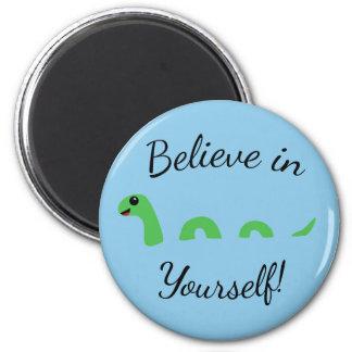 Believe Yourself Cartoon Nessie Loch Ness Monster Magnet
