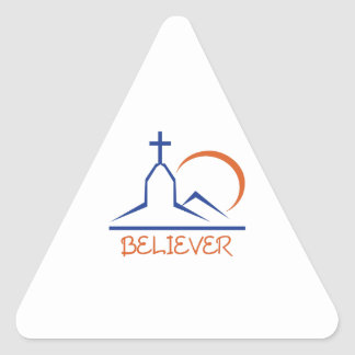 BELIEVER TRIANGLE STICKERS