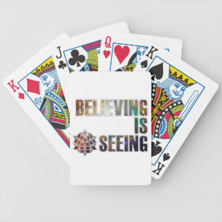 Believing is Seeing Bicycle Playing Cards