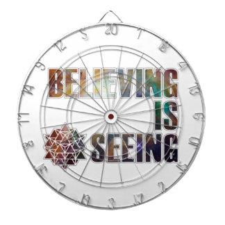 Believing is Seeing Dartboard