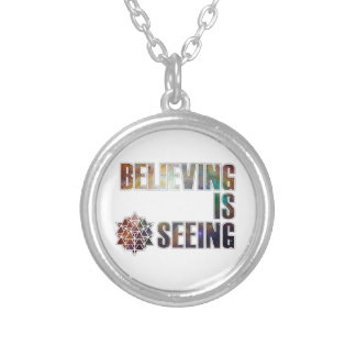Believing is Seeing Silver Plated Necklace