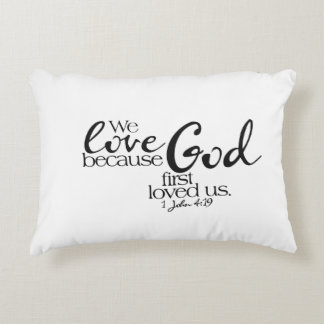 Believing Person Prays Cotton Accent Pillow