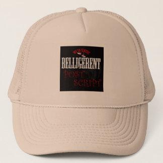 Beligerent post trucker hat