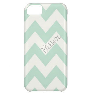 Belive Light Green Chevron iPhone 5C Cases