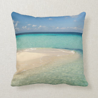 Belize, Caribbean Sea. Goff Caye, A Small Island Throw Pillow