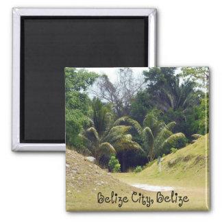 Belize City, Belize Square Magnet