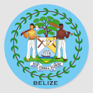 Belize Coat of Arms Sticker