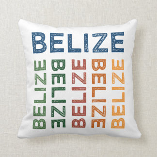 Belize Cute Colorful Throw Pillow