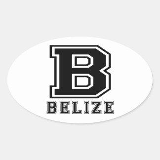 Belize Designs Oval Sticker