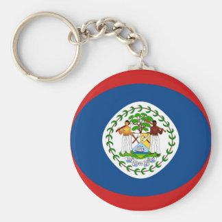 Belize Fisheye Flag Keychain