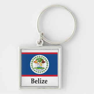 Belize Flag And Name Keychain