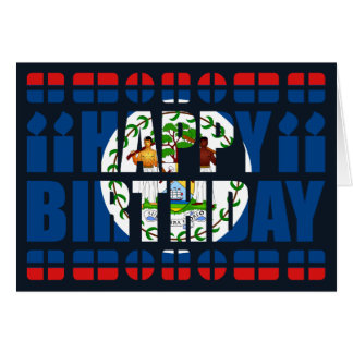 Belize Flag Birthday Card