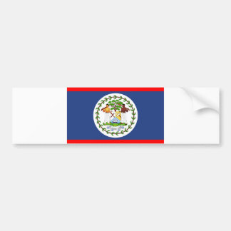 Belize flag country symbol bumper sticker