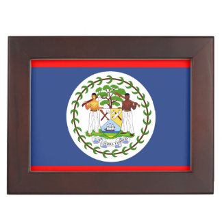 Belize flag country symbol keepsake box