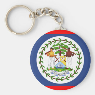 Belize flag country symbol keychain