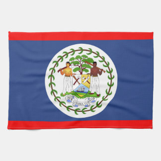 Belize flag country symbol kitchen towel