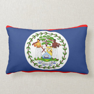 Belize flag country symbol lumbar pillow