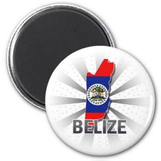 Belize Flag Map 2.0 Magnet