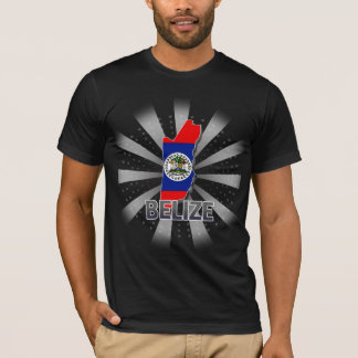Belize Flag Map 2.0 T-Shirt