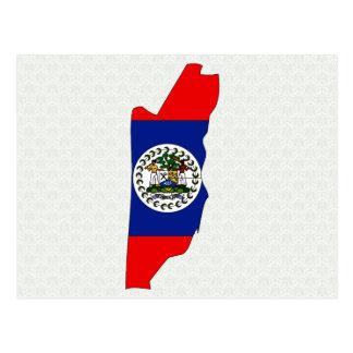 Belize Flag Map full size Postcard