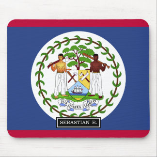 Belize Flag Mouse Pad