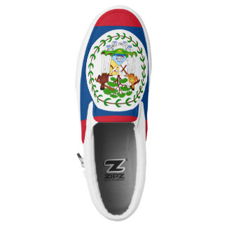 Belize Flag Slip-On Sneakers