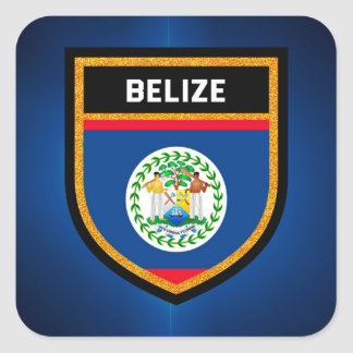 Belize Flag Square Sticker