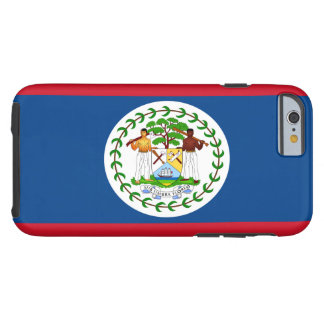 Belize Flag Tough iPhone 6 Case