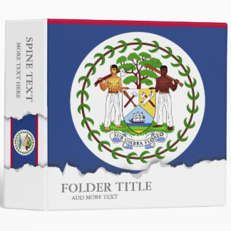 Belize Flag Vinyl Binders