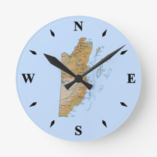 Belize Map Clock